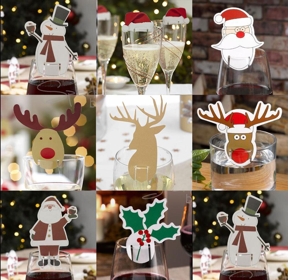 Pack Red Card Christmas Hat Accessories Fun Glass Decorations Card ...