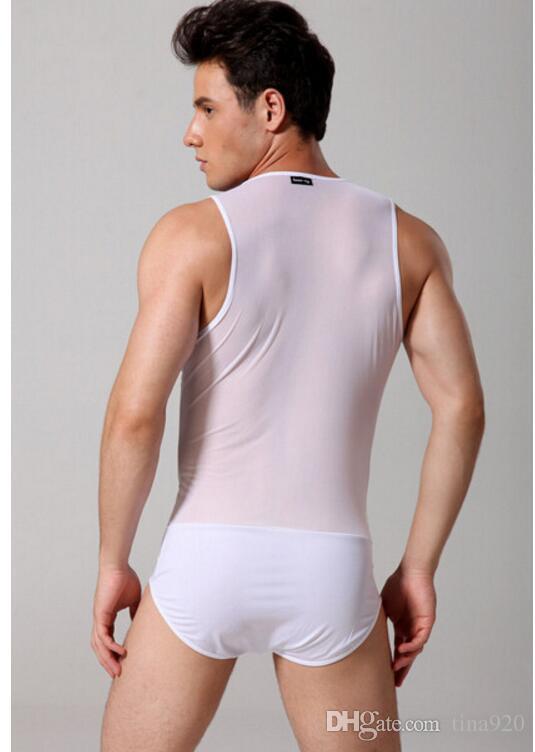 الجملة العلامة التجارية للرجال ملابس داخلية مثيرة ذكر بذلة سوداء ، بيضاء