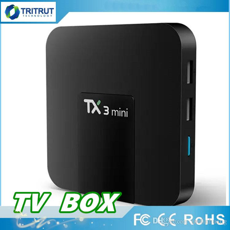 TX3 mini 4K Quad Core CPU Android 7.1 TV BOX 2.4GHz WiFi H.265 HD Media 1GB+8GB
