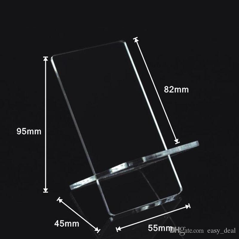 Clear Acrylic Mobile Cell Phone Display Stand Telephone Holder Storage Racks Universal Wholesale Free Shipping ZA6304