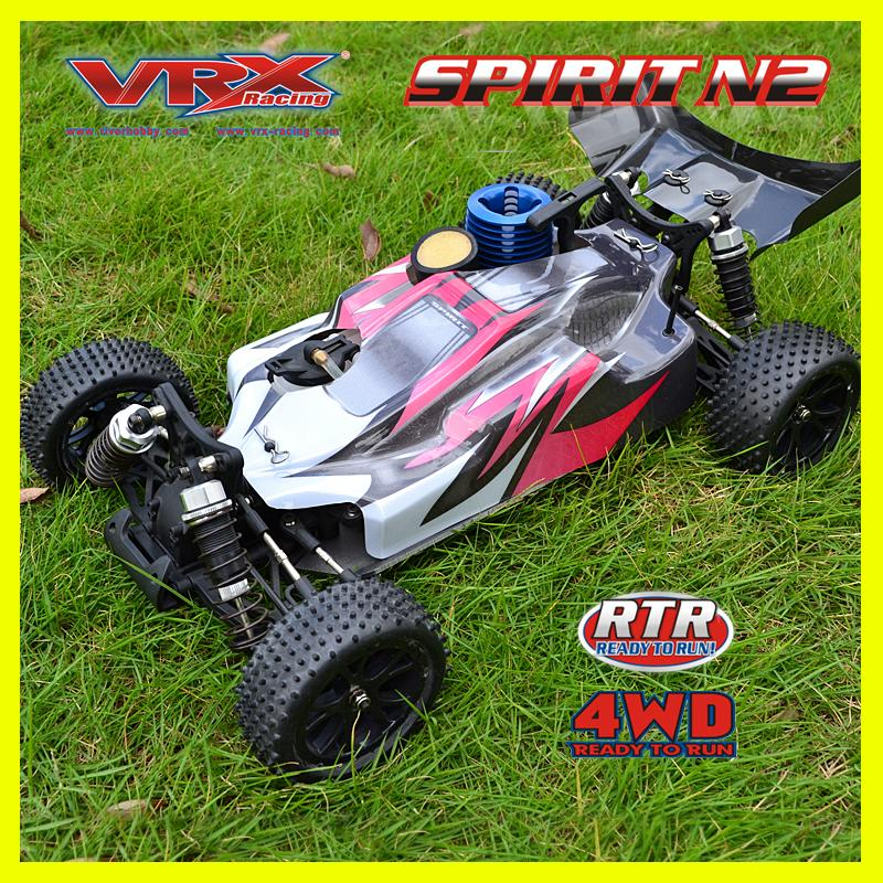 RC car 4WD VRX Racing SPIRIT N1 nitro buggy 1/10 powerful. 18 nitro engine with slide carburretor off road rc car remote control