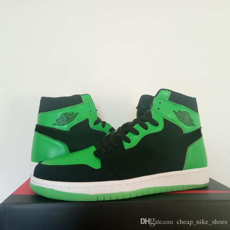 2018 Exclusive XBOX 1 E3 Black Green Men Women Basketball Shoes Glow In The  Dark Sole 1 Mids Brand Designed Sports Sneakers Size 5.5 13 UK 2019 From ... e18f4ca583b3