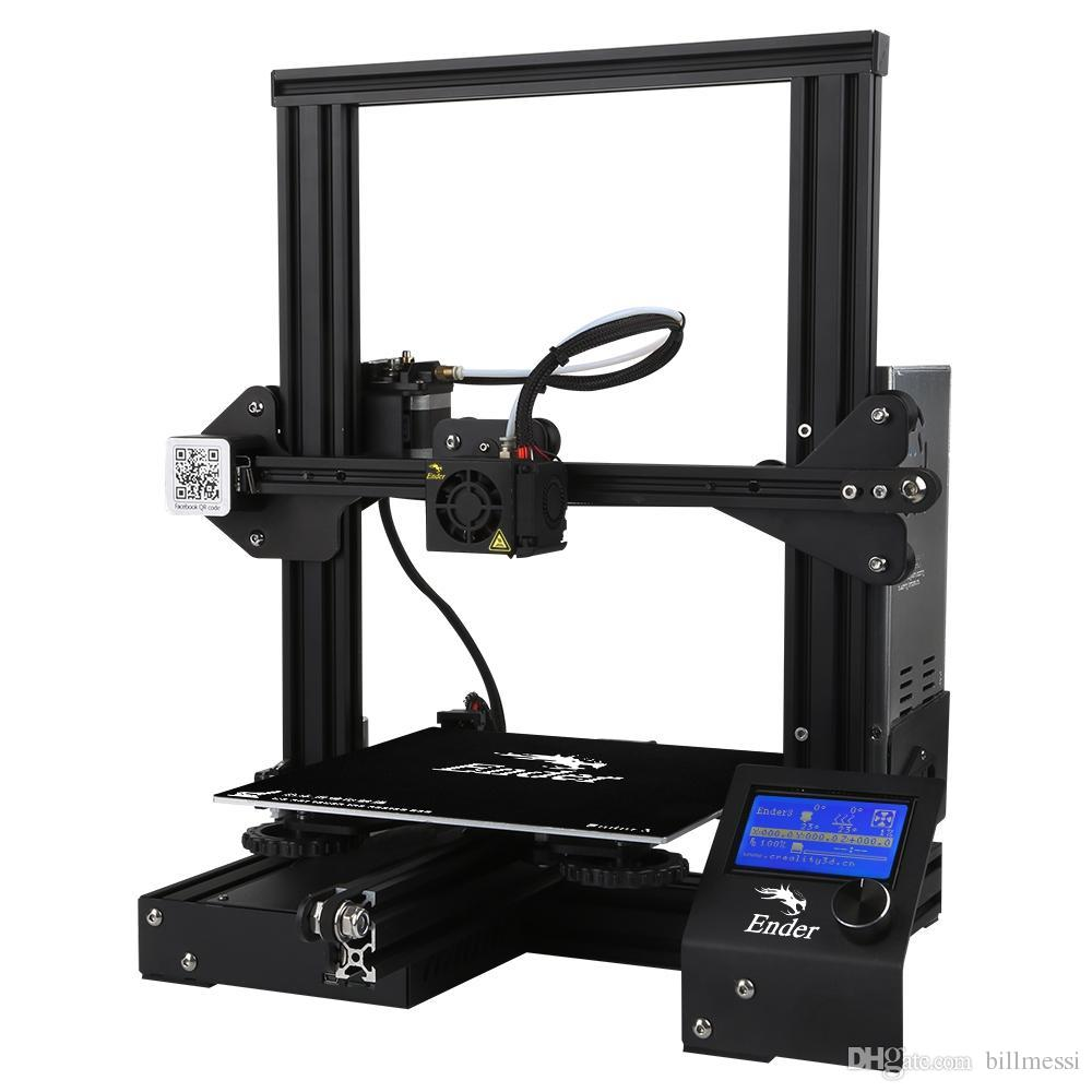 Creality3D Ender - 3 V-slot Prusa I3 DIY 3D Printer Kit 220 x 220 x 250mm with MK10 Extruder 1.75mm 0.4mm Nozzle 0.1mm Engraving Accuracy VB