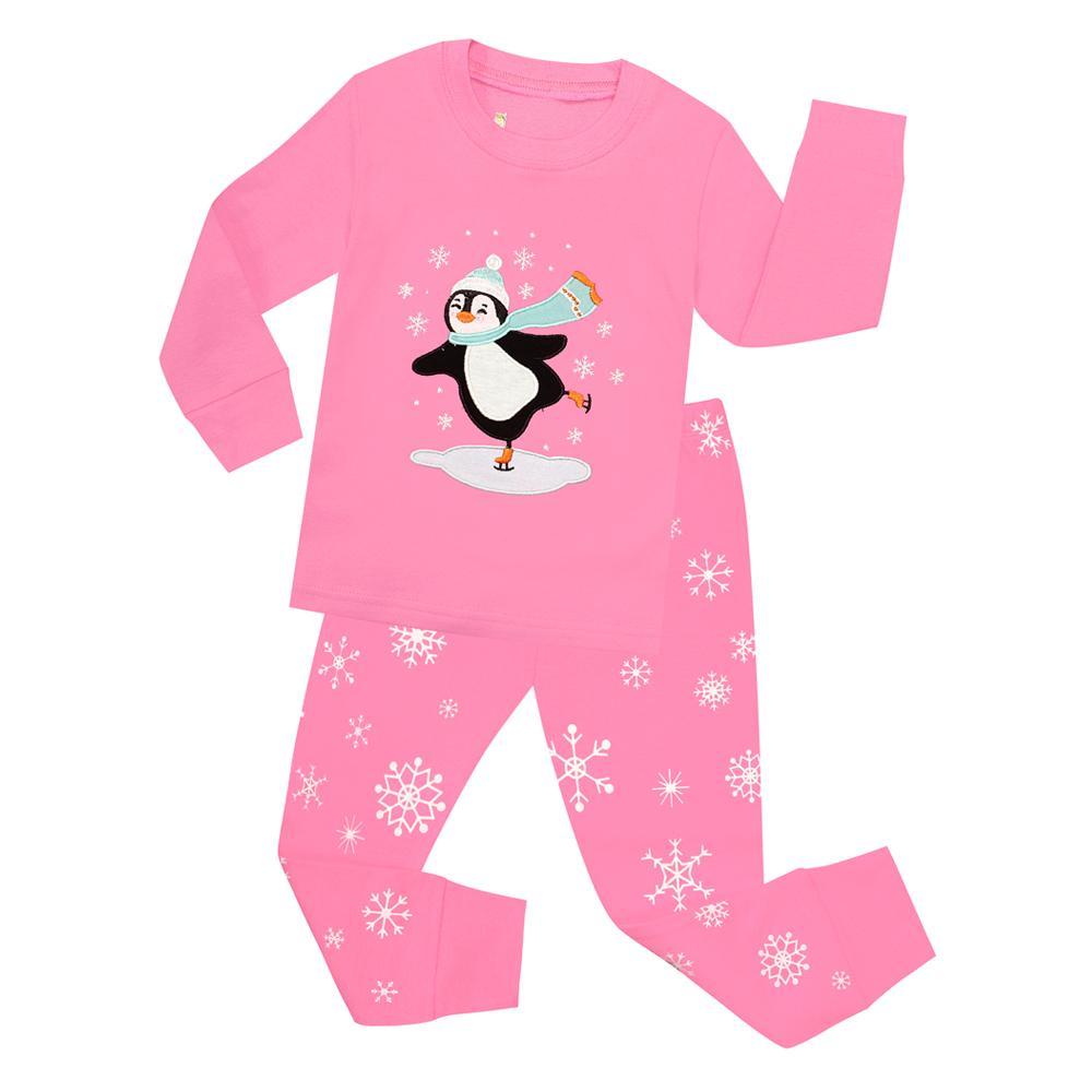 15a324ce8 Children Christmas Pajamas Sets Boys Girls Penguin Sleepwear For ...