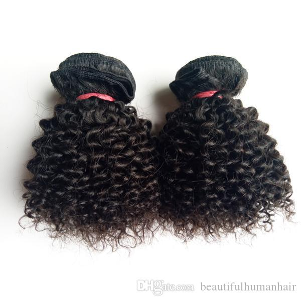 Brazilian Virgin human hair weft Kinky Curly hair extension 8-12inch beauty Short Bob Style Full Cuticle Unprocessed Indian remy Hair weaves