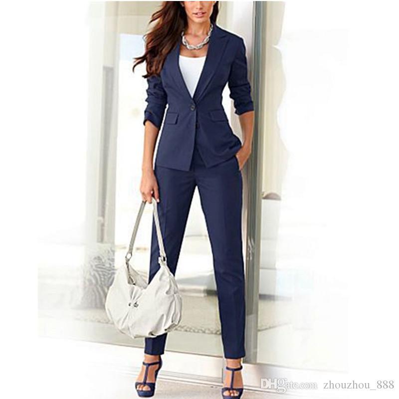 on sale 28d9c cada1 Tuta da ufficio da donna formale abiti da lavoro delle donne nuove su  misura Tuta da ufficio donna vestito da tuta da donna Slim abiti (vestito  ...