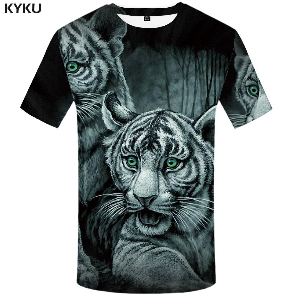 8e33356f KYKU Tiger T Shirt Jungle T Shirt Funny Plus Size Animal Shirts Clothing  Tshirt Men Print Tops Tees Summer Japanese Make Tee Shirts T Shirts Print  From ...
