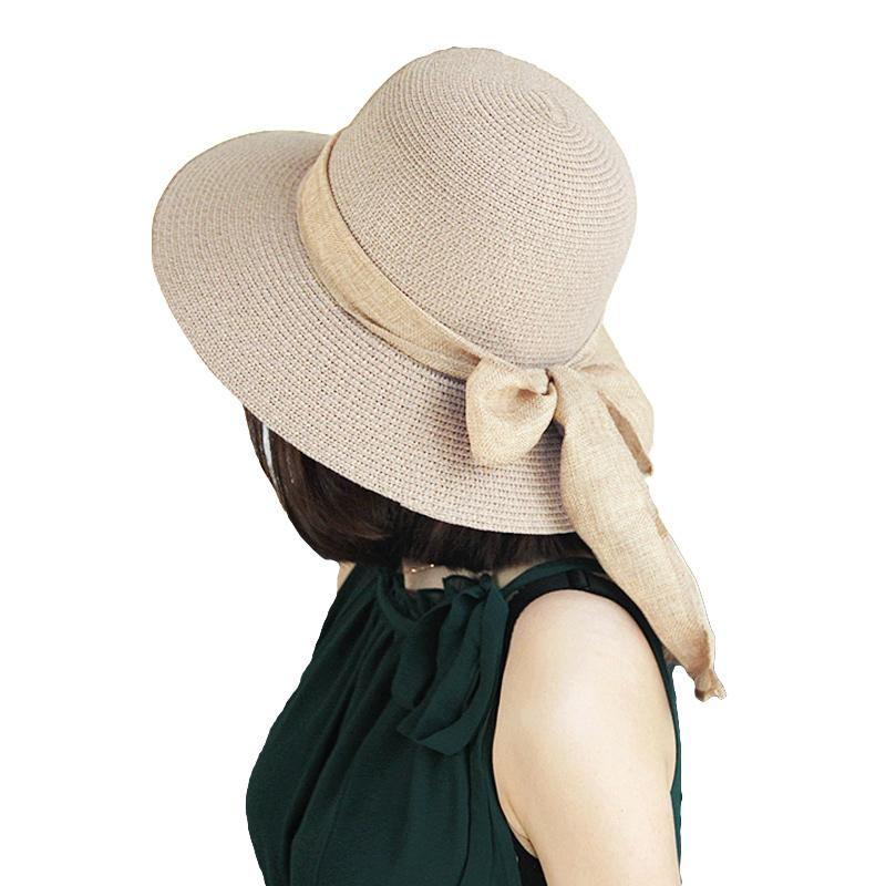 5bdd984b 2017 Summer New Sweet Women Straw Hat Bowknot Foldable Casual Summer Sun  Holiday Beach Cap Beige/Light Coffee Fedora Hats For Women Hat Shop From  Wutiamou, ...