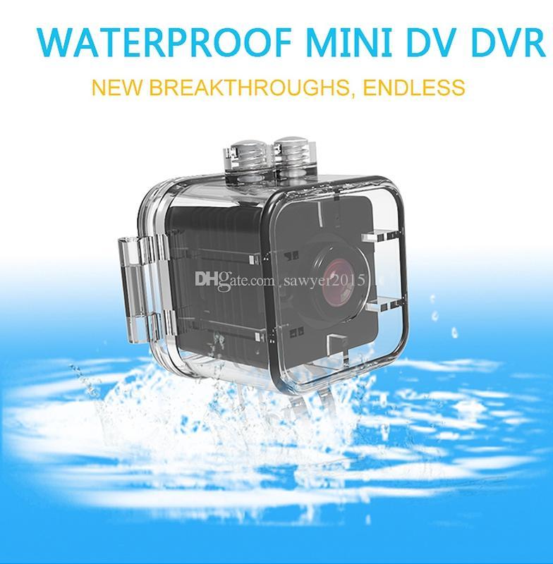 Impermeable 155 grados de lente de gran angular HD 1080P Mini DV DVR SQ12 Mini Sport Cámara de video con visión de la noche de infrarrojos Detección de movimiento