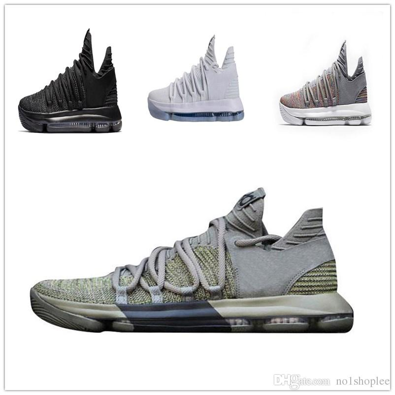 5f8424ba096b Basketball Shoes Mens Kd 10 Sport Sneakers Black White Bhm Oreo Anniversary Red  Kevin Durant Size 7 12 Shoes Sports Sports Shoes For Women From No1shoplee