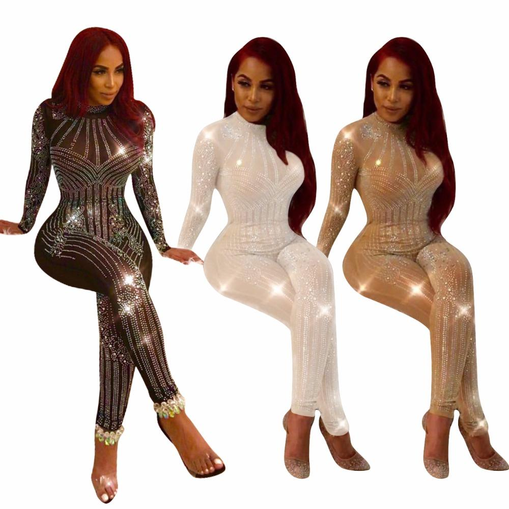 Sparkly Style Rompers Women Jumpsuit Full Length Sexy Club Jumpsuit Sequin  Bodysuit Playsuit Q034 UK 2019 From Baldwing cdedcd375
