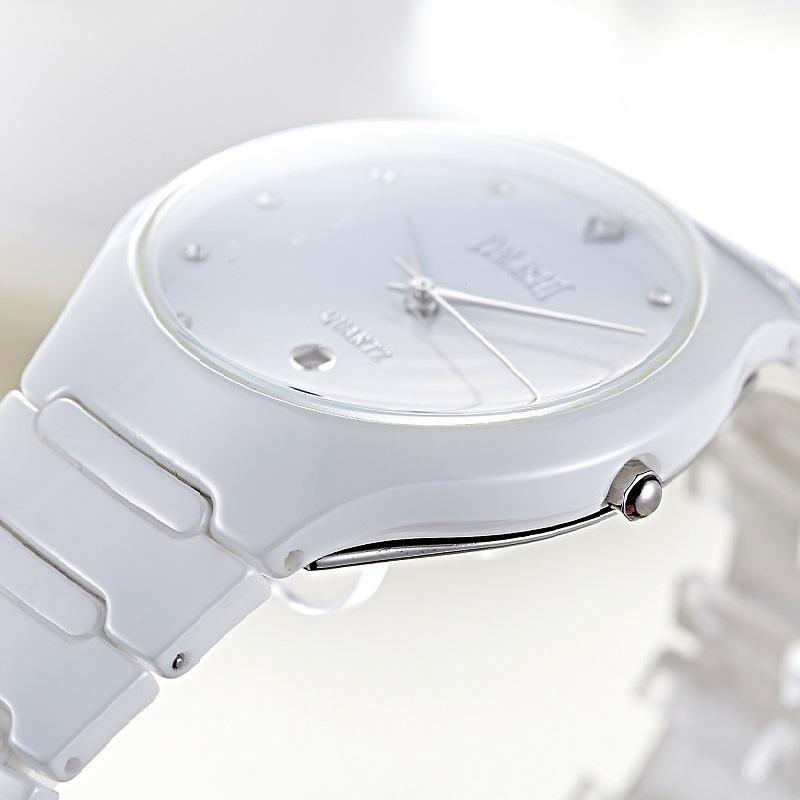 Uhr Kalender Mann Armbanduhr Kleid 30m Mens Imprägniern Männliches Geschäfts Weiße Dalishi Keramische Quarz Marken FKJcl1