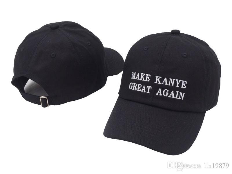 Compre 2018 Novo MAKE KANYE GRANDE OUTRA VEZ Bordado 6 Painel De Chapéu De  Beisebol DOS EUA Moda Carta Papai Chapéu Ajustável Boné De Golfe Chapéus ... 4caa8896b9d