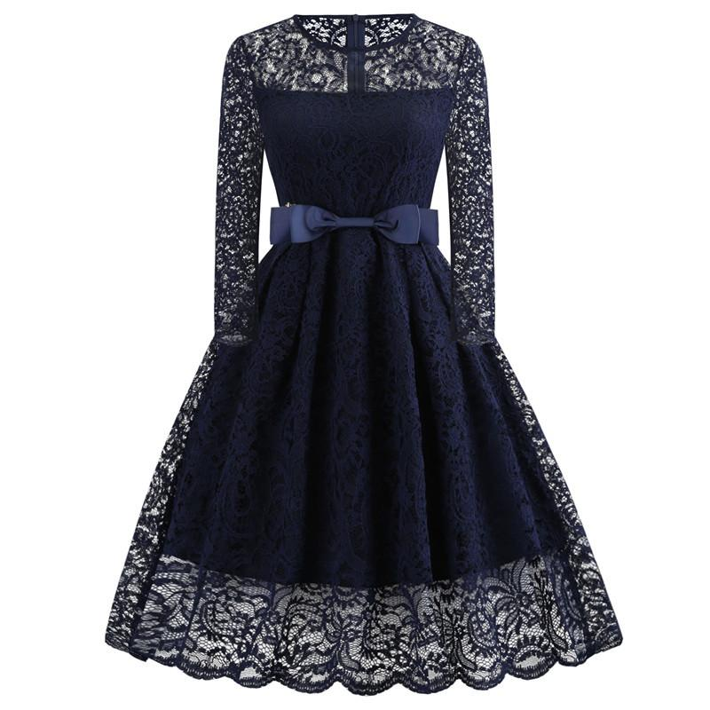 1d0c2f7c0c5b 2019 Vintage Floral Lace Pleated Dress Women Sleeveless O Neck Elegant  Party Sexy Dresses Retro 50s Summer Robe Big Swing Dress From Songzhi, ...