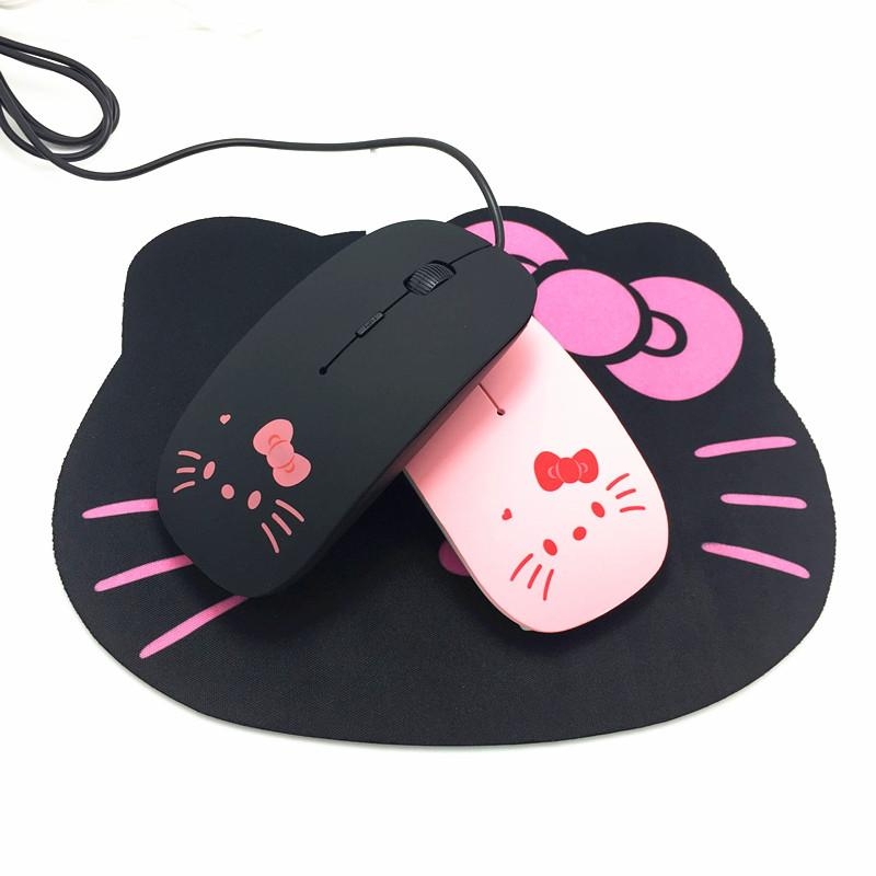 744c7194b 2019 Pink Hello Kitty USB Wired Cable Mouse Girl Lovely Cartoon Mouse  1200DPI Optical KT Cat Mice For Computer PC Laptop From Starship13, $36.4 |  DHgate.Com