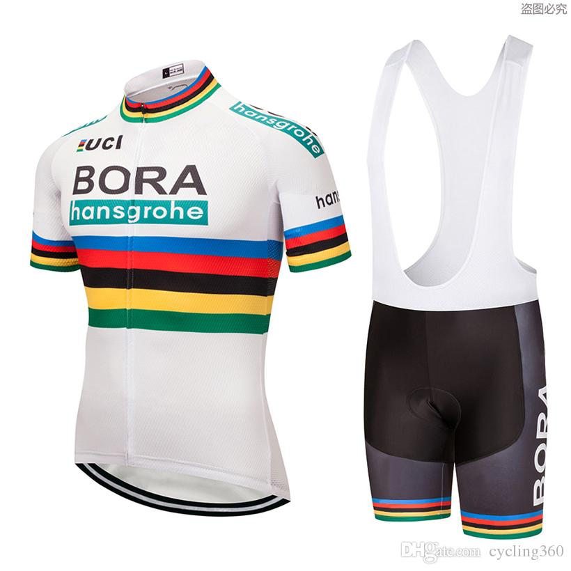 6c8f129ce Polyester Quick Dry White Pro Cycling Wear Uci 2018 Bora Cycling ...
