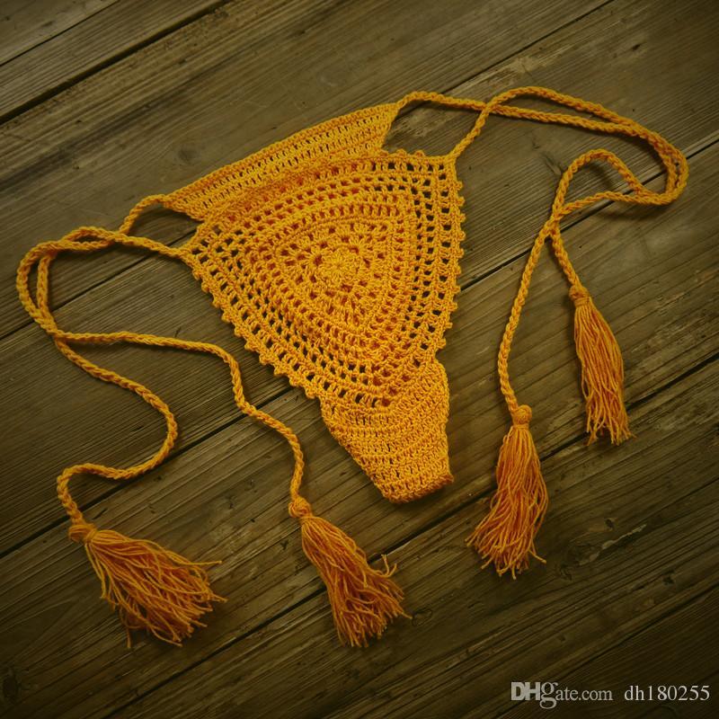2019 Custom Made Handmade Crochet Sexy Bikini Lingerie G String