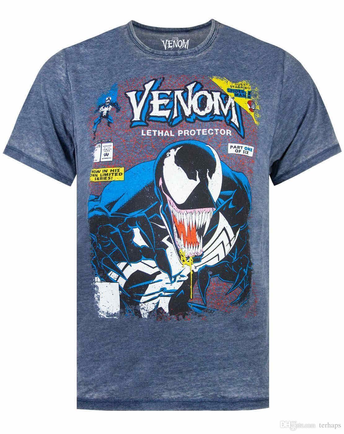 563859616c8 Marvel Venom Comic Cover Men S Burnout T Shirt S XXL As Tee Shirts ...