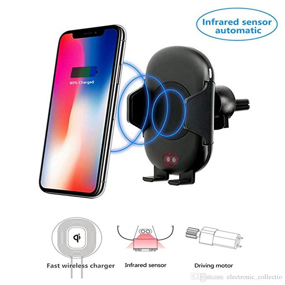 c10 10W fast wireless car charger with Infrared Sensor for samsung galaxy  a8 IPhone X 8 Plus Samsung S9 S8 Plus Note 8