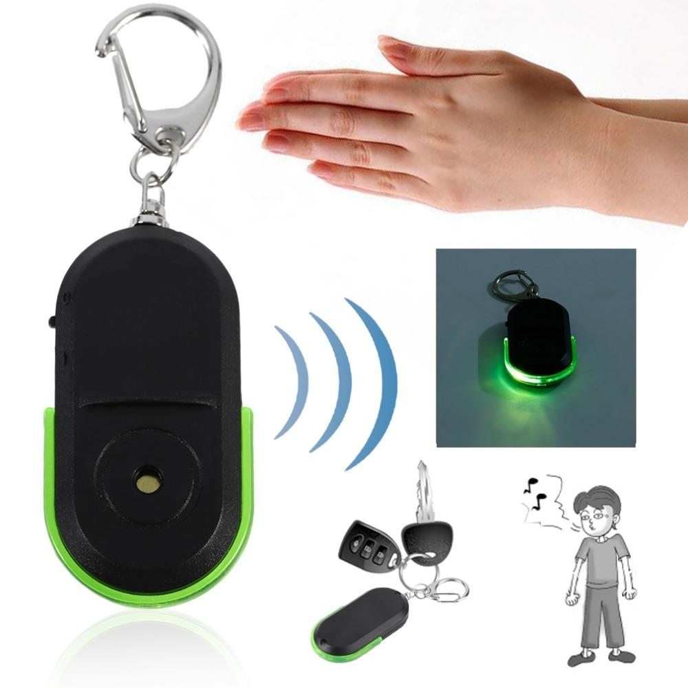 Whistle Sound Led Light Anti-lost Alarm Key Finder Locator Keychain Device Fashionable In Style;