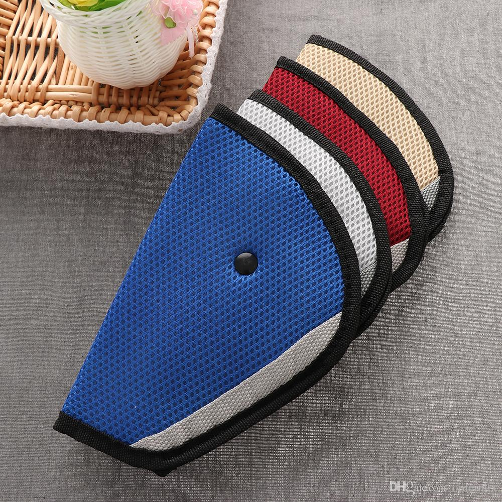 New Triangle Baby Car Safety Seat Belts Adjuster Clip Accessories Child Protector Red/Blue/Grey Color
