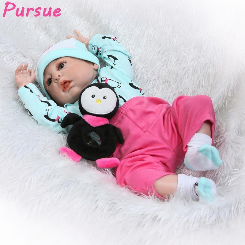 5 Pieces 30cm Full Vinyl Reborn Baby Unisex Doll Kids Sleeping Toy Bath Play