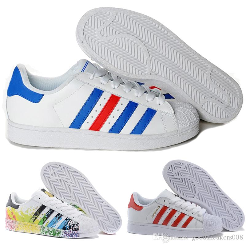 the latest d5efa c6a55 hot großhandel 2018 authentic originals adidas superstars 80s mans  damenschuhe smith classic weiß skate schuhe aus