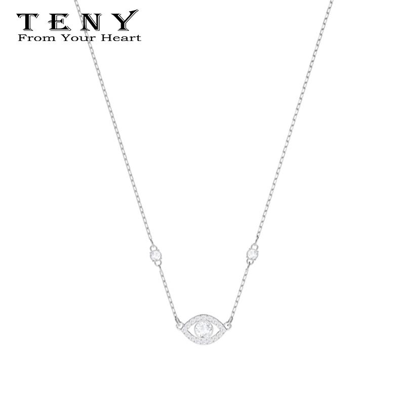 2019 TENY Swa LUCKILY EVIL EYE Necklace Sterling Silver OriginalHigh  Quality Women Jewelry First Choice Free Package Mail From Spectalin 9e76cf1167