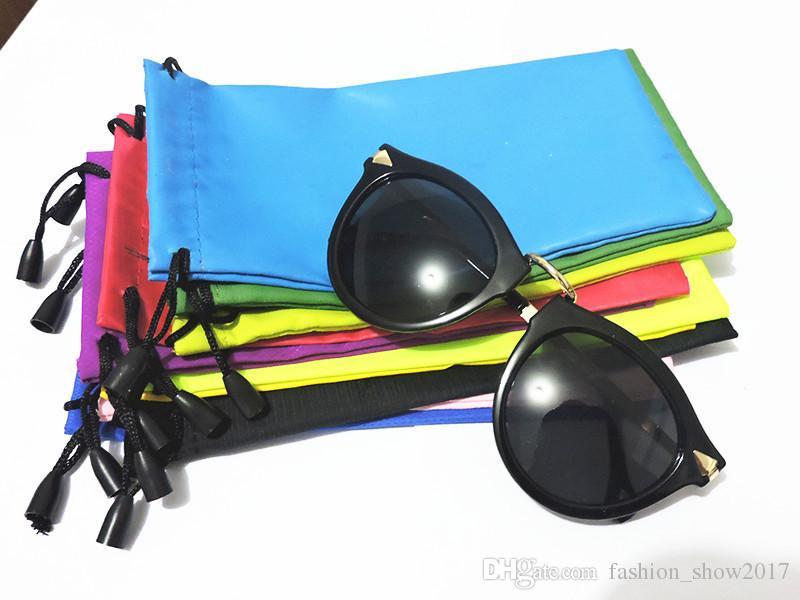 New Summer Glasses Case Multi-Functional Cloth Cleaning Eyewear Sunglasses Bag Pouch Occhiali ottici Custodia Occhiali Accessori