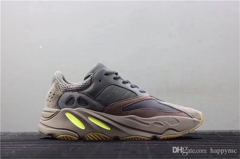 9203515962f4b 2019 2018 Hottest 700 Mauve Kanye West Wave Runner Purple 3M Sports  Sneakers Running Shoes Authentic Come With Original Box EE9614 Limited From  Happymc