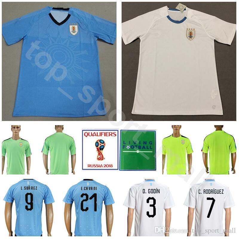 87cf17af4 ... amazon men uruguay jersey 2018 world cup soccer 3 godin football shirt  kits 7 rodriguez 9 ...