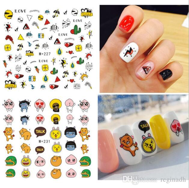 New Japanese Nail Art 3d Stickers Cartoon Stickers Decals Water