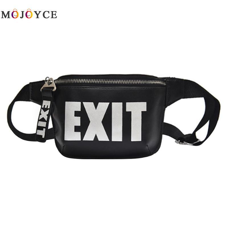 ac9efaaa6752 Street Style Letters Printed Sling Shoulder Men Women Chest Bag Hip-Hop PU  Leather Waist Packs Unisex Fanny Pack Heuptas Online with  30.2 Piece on ...