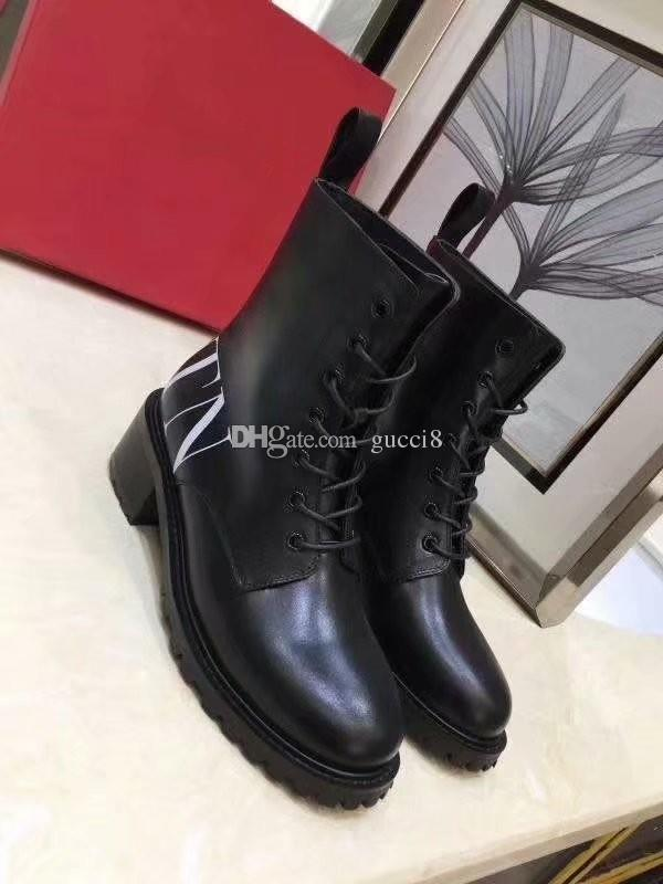 c97afc4c953 New Arrival Letter Cowhide Boots for women flat Women's Knight Booties