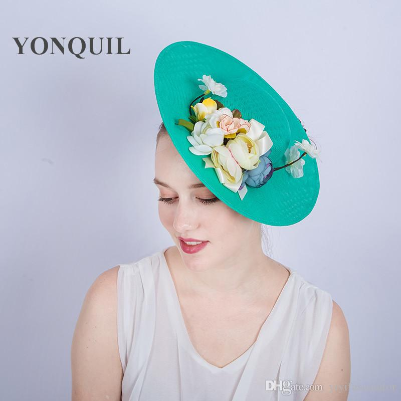 debced74ee8bd Women Imitation Sinamay Fascinator Hat with Silk Flower Kentucky ...