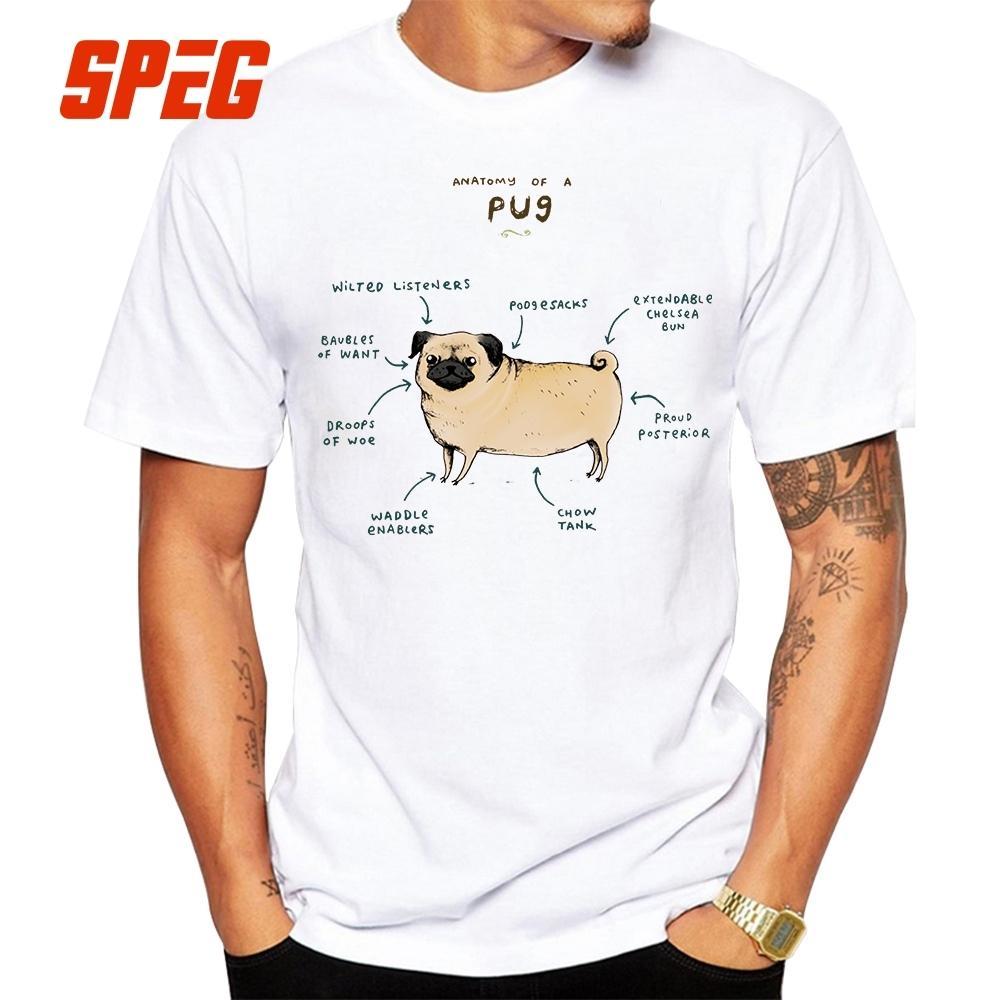 Anatomia De Animais Camiseta Pug Cão Frango Vaca Raposa Coelho Cabra ...