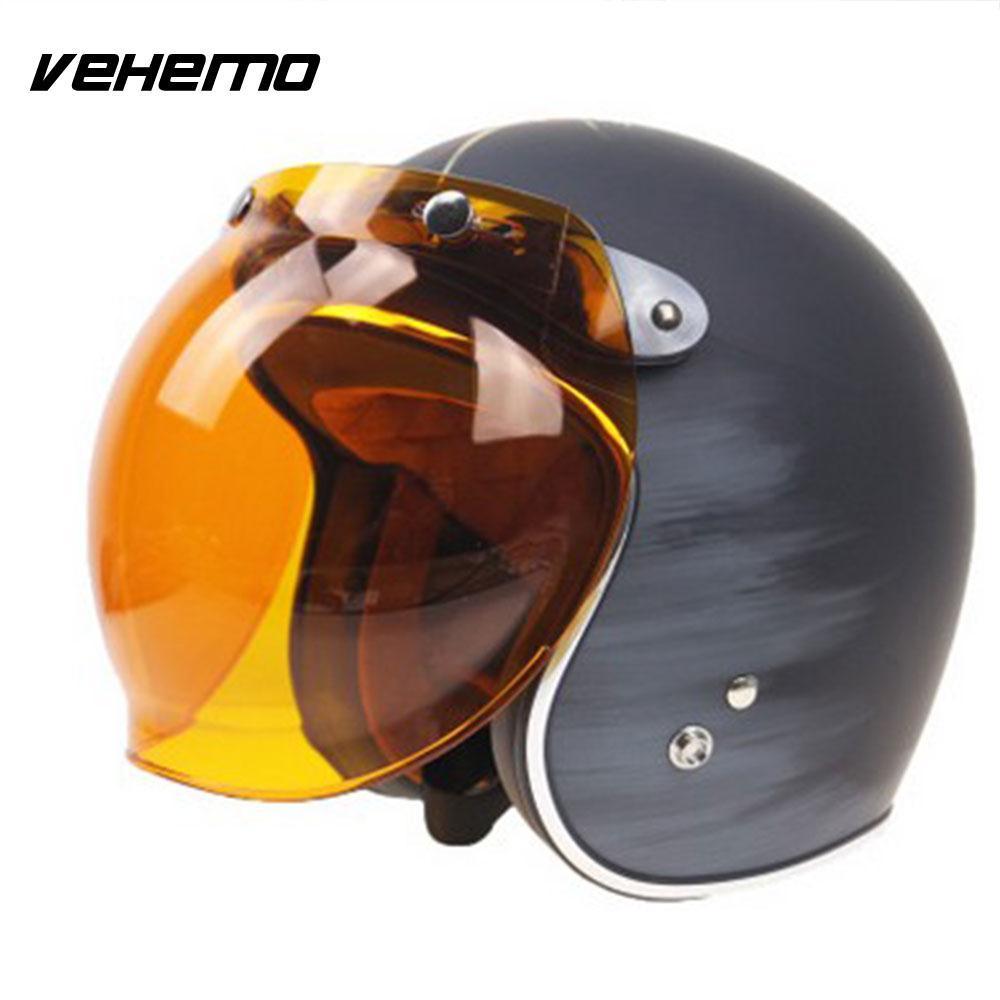 Motorcycle Motorbike Flip Down Retro Helmet Visor Bubble Shield Lens Base  Best Motorbike Helmets Best Motorcycle Helmet From Bqintian c81d6383b49