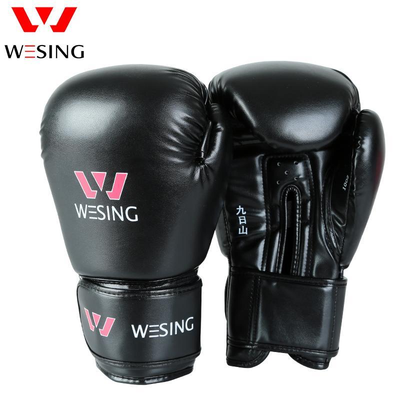a159b0cbb9 Compre Wesing Pro Estilo Luvas De Boxe Sparring Luva Saco De Pancadas Mitts  Treinamento Muay Thai Esporte Luvas De Engrenagem De Fitness 8 10 12 Oz De  ...