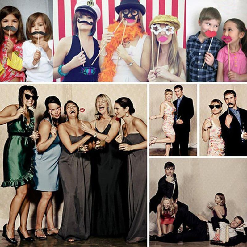 Photo Booth Props Party Wedding Decorations CatGlass Supplies Mask Mustache for Fun Favor photobooth brithday party favors