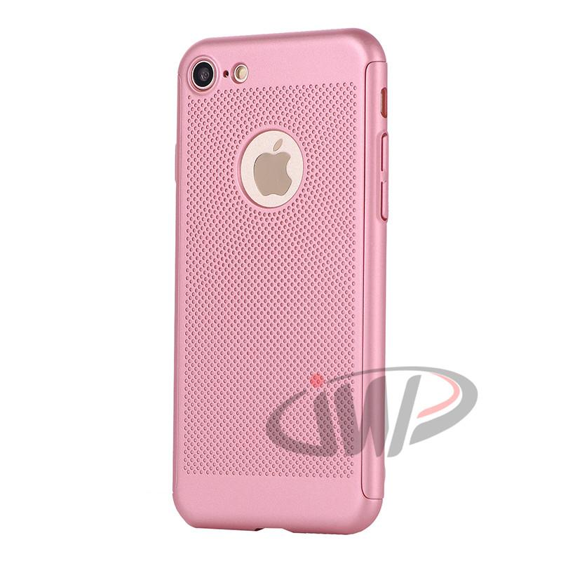 For iPhone 7 6S 6 Plus Full Body Protective Mesh Matte Hard Phone Case Plastic Luxury Cover 360 Degree for iPhone7