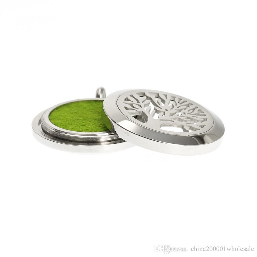 Locket del diffusore del profumo dell'acciaio inossidabile 316L del medaglione dell'olio essenziale di aromaterapia della vite di torsione di 25mm Locket misura la collana