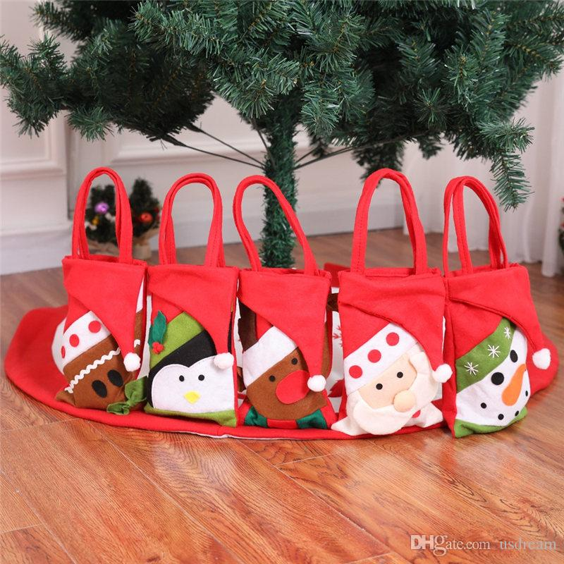 new cartoon christmas candy bag nonwoven santa snowman hand bags gift bags christmas decorations drop ship 110193 animated christmas decorations beaded - Christmas Candy Bags