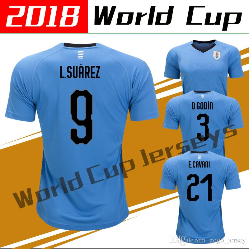 a5200c7b4 mens uruguay 2018 world cup away 9 white luis suárez jersey  top thai uruguay  2018 world cup soccer jerseys home blue suarez edison cavani forlan godin  ...