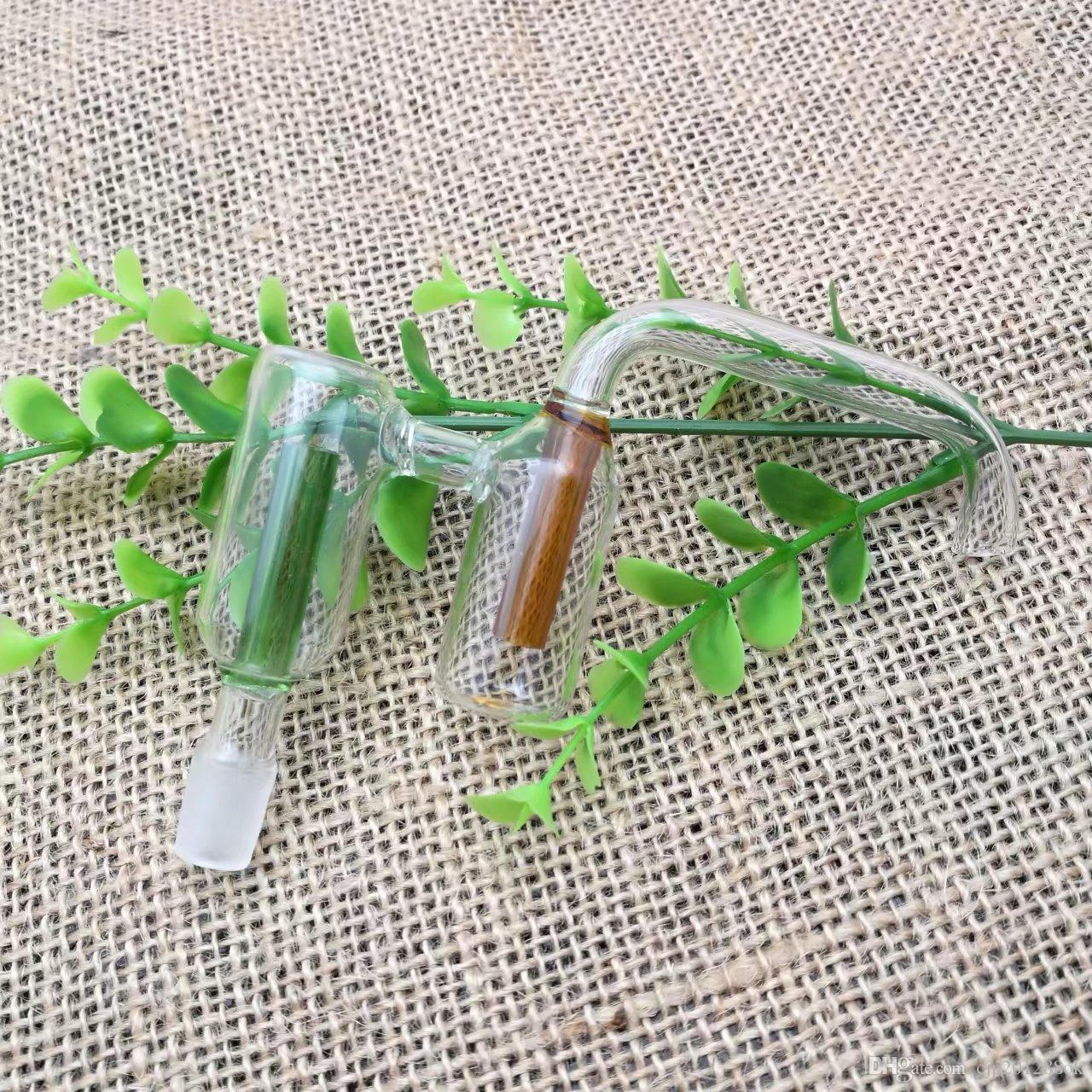 Farbe Doppelfilterglas zu Fuß Platte Großhandel Glas Bongs Ölbrenner Glas Wasser-Rohr-Bohrinseln Raucher Rigs