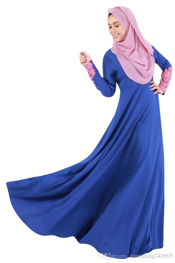 8ac81571b7bbf 2019 Fashion Lady Islamic Clothing Muslim Abaya Dress Islamic Abaya For  Women Embroidery Dubai Kaftan Muslim Abaya From Dujotree, $26.32 |  DHgate.Com