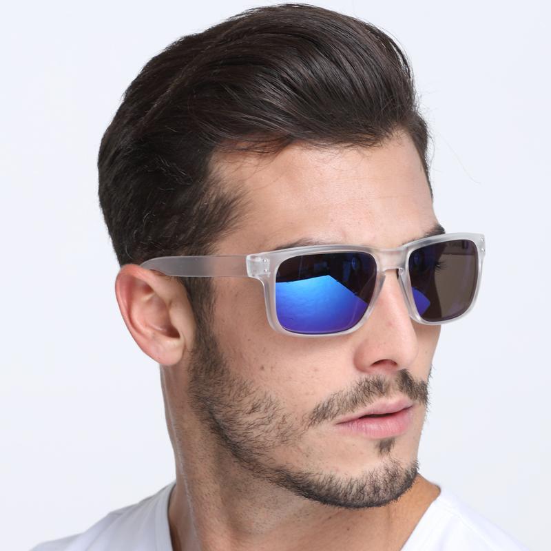 3c3cb54edd Compre Gafas De Sol Con Montura Transparente Y Lentes Azules De Dokly  Recubrimiento Reflectante Gafas De Sol Cuadradas Mujeres Diseñador De La  Marca A $11.4 ...