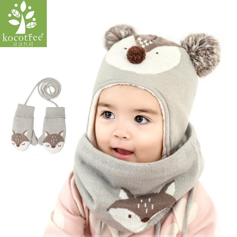 c8354f5c 2019 Kocotree Baby Winter Hat & Scarf Baby Winter Cap Children Warm Scarf  For Boys Suit Beanie Hats Scarfs For Girl Boy From Vanilla14, $29.65 |  DHgate.Com