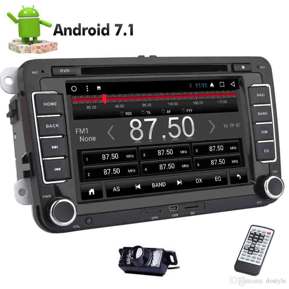 Para VW Car Stereo 8-core Android 7.1 Headunit en Dash 2DIN Car DVD Player GPS Estéreo de navegación GPS para Volkswagen Golf HD Pantalla multitáctil