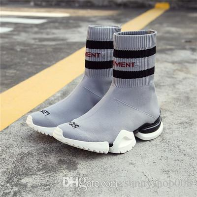 49d9df3a86fc9 VETEMENTS SS CREW UNISES Sock Trainer Dropping RUNNING Shoes CN3307 Grey  Stretch Socks Shoes Luxury Brand Sneaker Canada 2019 From Sunnyshop008