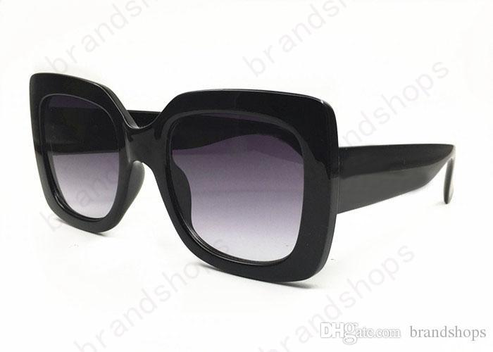 Las mujeres de lujo de alta calidad retro gran marco de diseñador de la marca de la vendimia gafas Gafas de sol para mujeres sombra Moda UV gafas de sol con el caso